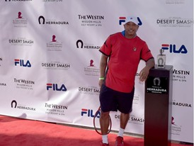 Ja Rule Wears FILA at the 12th Annual Desert Smash Charity Celebrity Tennis Event