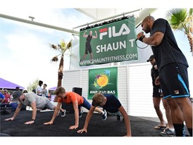 FILA Presented Tennis Talk with Shaun T at the BNP Paribas Open Village Stage