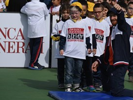 Kids at the Un Campione per Amico event in Rome