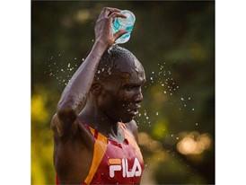 Dickson Kimeli Cheruiyot of the Kenyan Running Team