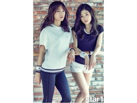 Members of girl band 'IOI'! pictured in lifestyle clothing by FILA Korea