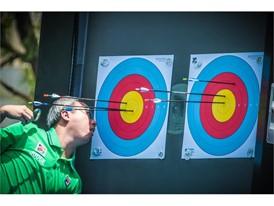 World Archery judges in FILA polos