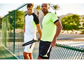 Tennis crews and shorts from the FILA men's ALPHA tennis collection