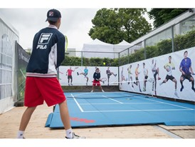 Tennis area outside the FILA booth