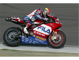 Ducati racer Neil Hodgson in action