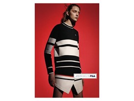 FILA x Jason Wu black and white dress