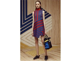FILA x Jason Wu red and blue striped dress