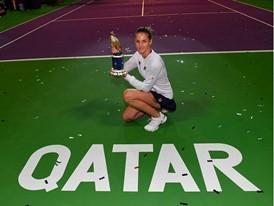 FILA's Karolina Pliskova Wins Second Title of the Year at the Qatar Open