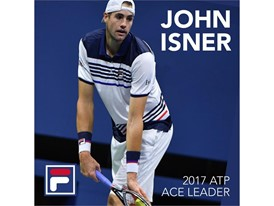 FILA tennis player John Isner has finished the 2017 season with the most aces on the ATP World Tour.