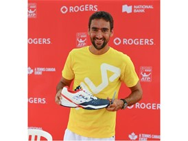 FILA Hosts Junior Tennis Clinic and Q&A with Marin Cilic in Toronto at Rogers Cup