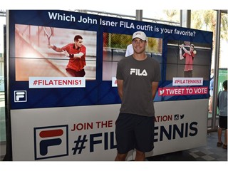 FILA Hosts In-Store Autograph Signing with John Isner at BNP Paribas Open