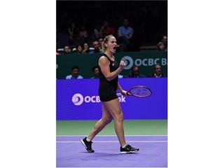 FILA Sponsored Tennis Player Timea Babos Wins WTA Finals Doubles Championship