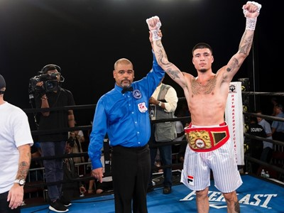 FILA Sponsored Boxer Dusty Hernandez-Harrison Wins USBA Welterweight Title