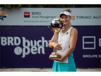 FILA Tennis Athlete Irina Begu Wins Singles & Doubles Titles at Bucharest Open