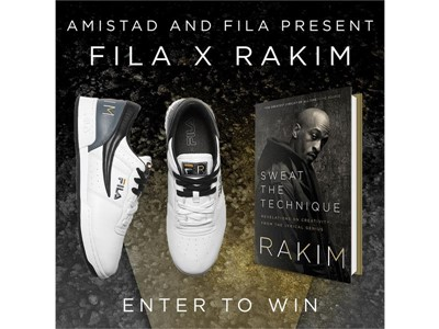 FILA and Amistad Announce Exclusive FILA x Rakim Sneaker Inspired By Rakim's Upcoming Book