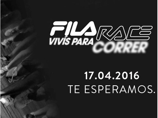 "FILA Race Official Poster - ""Live to Run"""