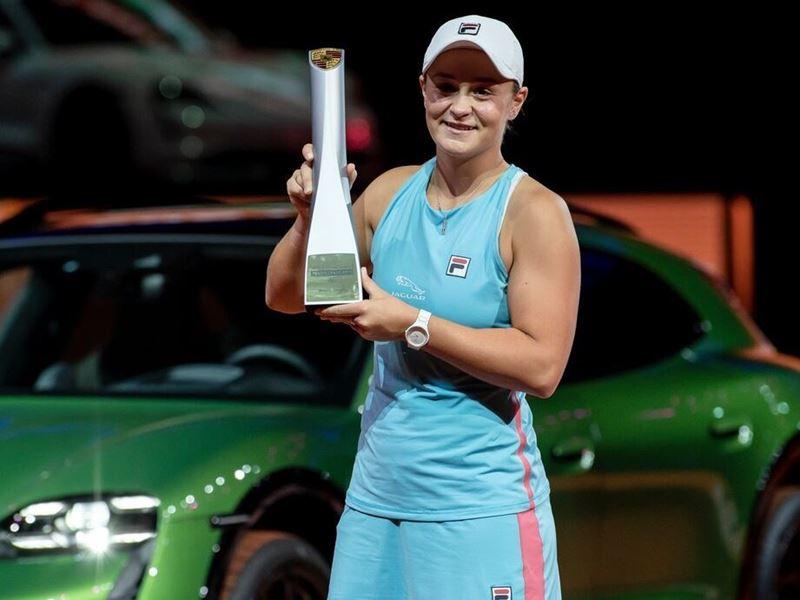 FILA's Ash Barty Shines Again, Wins Porsche Tennis Grand Prix in Tournament Debut