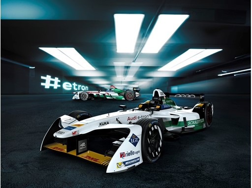 The new Audi e-tron FE04 for Formula E