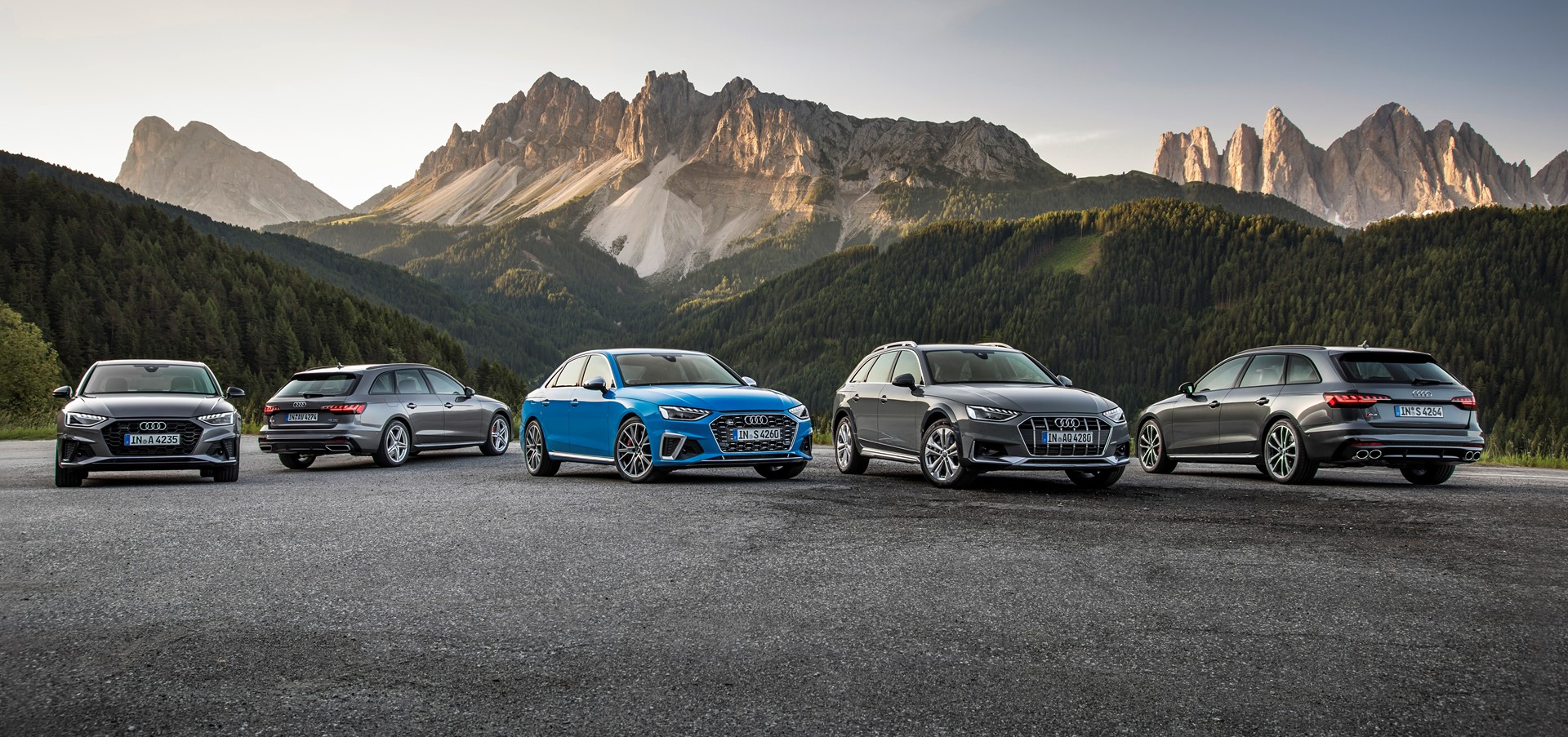 The Audi A4 product line launches with a new look