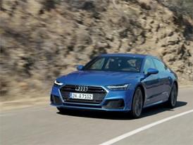 Footage Audi A7 Sportback 2017 blue