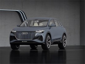 Audi Q4 e-tron concept Exterior and Interview Footage