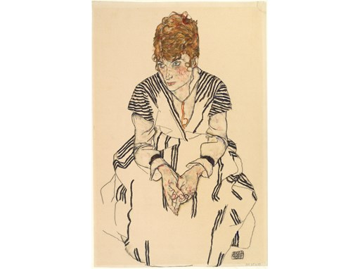 Portrait of the artist's sister-in-law Adele Harms, 1917