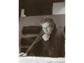 Antoni Tapies at his Workshop