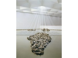 Yoko Ono Riverbed morning beams 1996