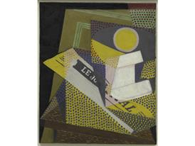 Juan-Gris - NEWSPAPER AND FRUIT DISH