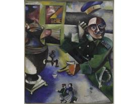 Marc-Chagall - THE SOLDIER DRINKS
