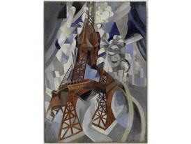 Robert Delaunay - RED EIFFEL TOWER