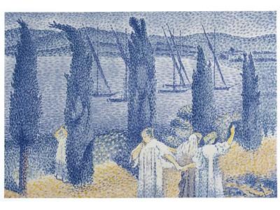 Cross - La promenade, bord de mer ou le cypres 1897