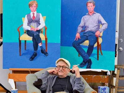 David Hockney: 82 retratos y 1 bodegón
