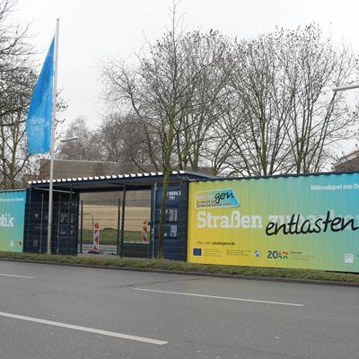 Mikrodepot am Ostwall: UPS, DPD, GLS und Amazon Logistics im Einsatz für eine emissionsfreie Innenstadt