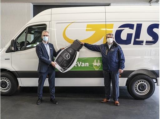 GLS e-Sprinter Übergabe Hamburg