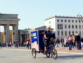 City-Logistik - eBike-Fahrt Brandenburger Tor 1