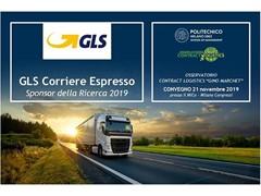 """GLS parteciperà al Convegno di presentazione dei risultati della Ricerca 2019 dell'Osservatorio Contract Logistics """"Gino Marchet"""""""