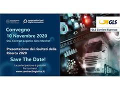"""GLS parteciperà al convegno di presentazione dei risultati della Ricerca 2020 dell'Osservatorio Contract Logistics """"Gino Marchet"""""""