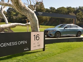 G80 SPORT ON DISPLAY AT 2018 GENESIS OPEN HOLE 16