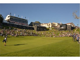 GENESIS OPEN, THE 18TH GREEN AT THE RIVIERA COUNTRY CLUB