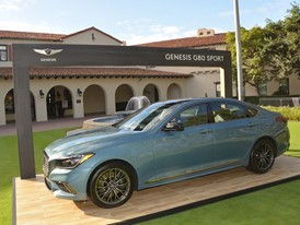 GENESIS G80 SPORT IN FRONT OF THE RIVIERA COUNTRY CLUB, HOME OF THE GENESIS OPEN