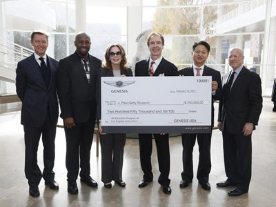 Luxury Car Brand Genesis USA Selects The J. Paul Getty Museum To Receive A $250,000 Arts Education G