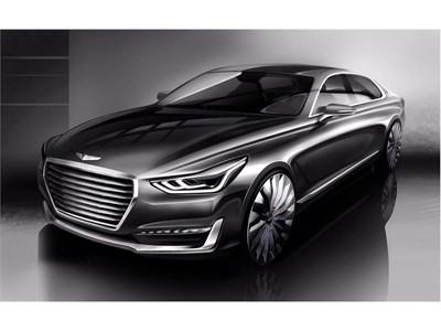 'New Luxury' Takes Shape - Hyundai Motor Unveils Rendering of New G90