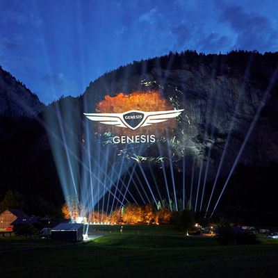 Hello Europe 3D Projection Launch | This Is Genesis | Genesis Europe
