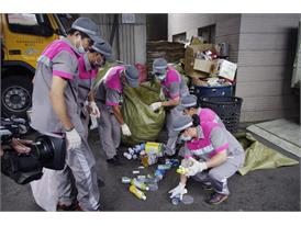 Rock the Rubbish-Taipei City janitors wearing uniforms made of recycled bottles