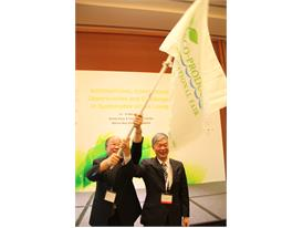Taiwan's delegates at EPIF flag-handover ceremony