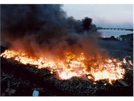 Burning waste tires produces massive pollution and becomes detrimental to the planet