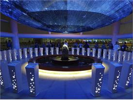 Extravagant LED light sphere became major tourists attraction in Shanghai World Expo