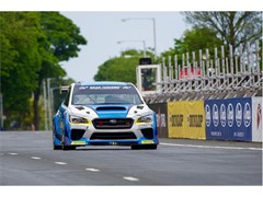 Subaru, Mark Higgins and Dunlop set a new car lap record - on the ultimate motorcycle circuit