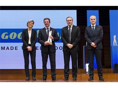"Goodyear awarded ""Chassis Supplier of the Year"" by Fiat Chrysler Automobiles EMEA for demonstrated customer centric performance, flexibility and transparency."